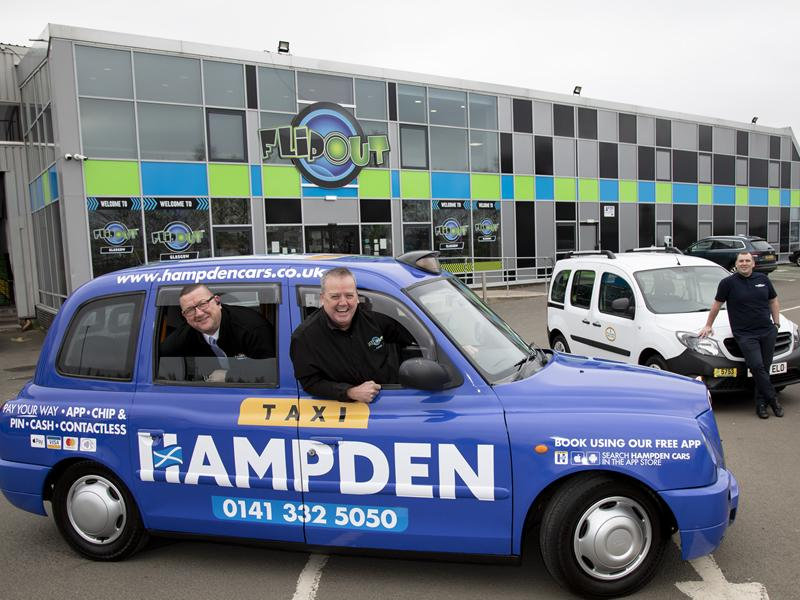 Hampden Cars geared up to help local trampoline park