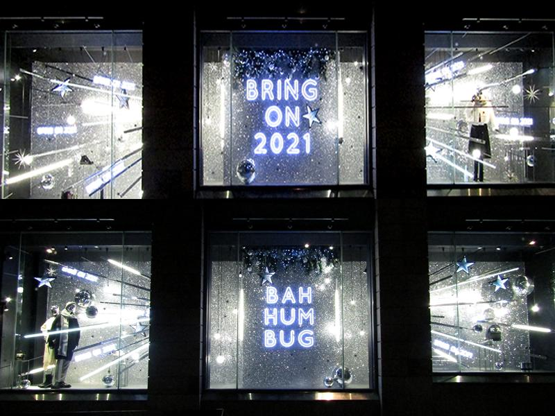 Bah Humbug! Harvey Nichols Edinburgh unveils 2020 Festive Windows