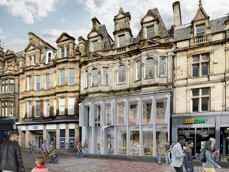 First images revealed of new Paisley High Street Learning and Cultural Hub