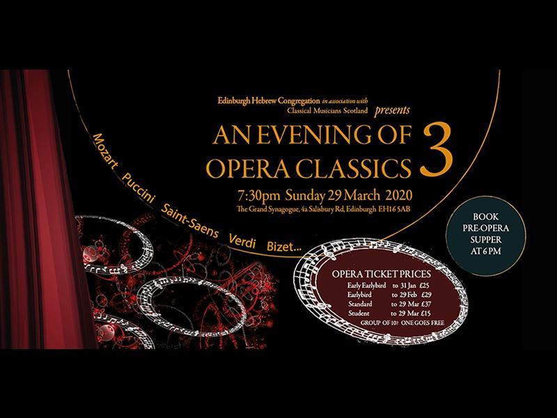 An Evening of Opera Classics - POSTPONED