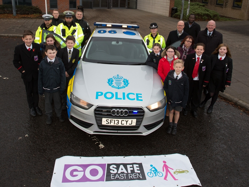 Go Safe East Ren road safety campaign launches