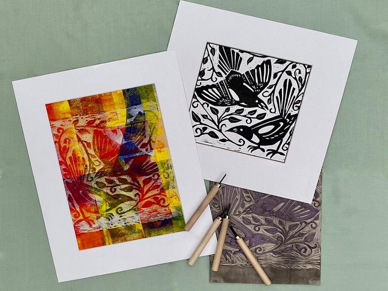 Digital Event: Adult Craft - Linocut Printing