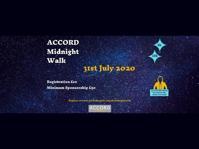 ACCORD Hospice Midnight Walk - POSTPONED