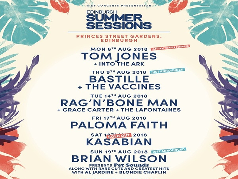 Exciting Artists announced for Edinburgh Summer Sessions!