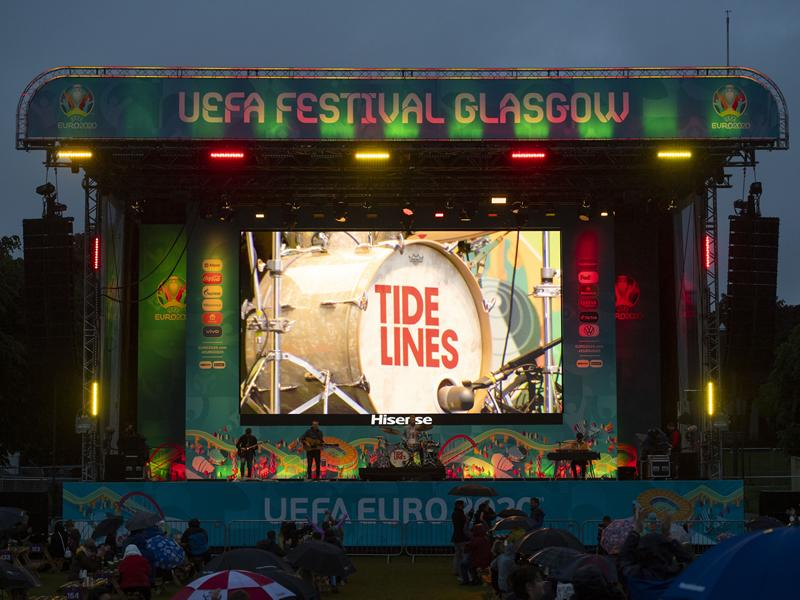 Entertainment tops the bill at Glasgow Green Fan Zone