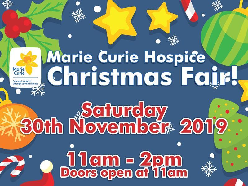 Marie Curie Hospice Christmas Fair