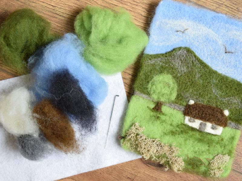 Needle Felting Workshop - Make a Landscape Picture