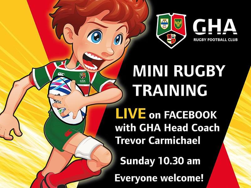GHA Mini Rugby Training