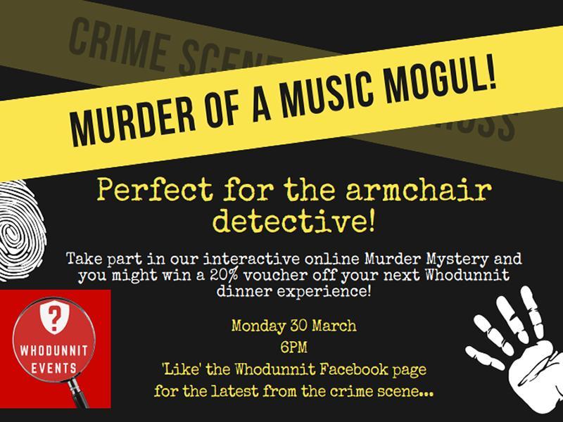 Murder of a Music Mogul! Interactive Online Murder Mystery
