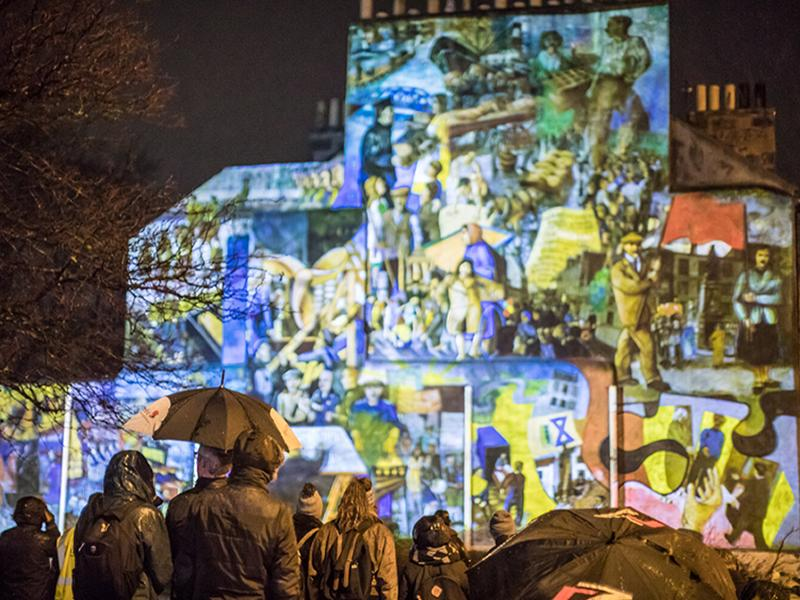 Leith100 : Light-Up Leith History Mural