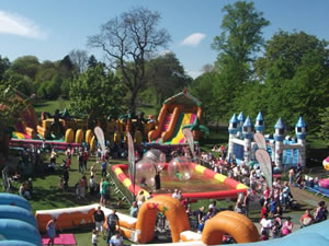 Inflatable Fun City at King George V Park