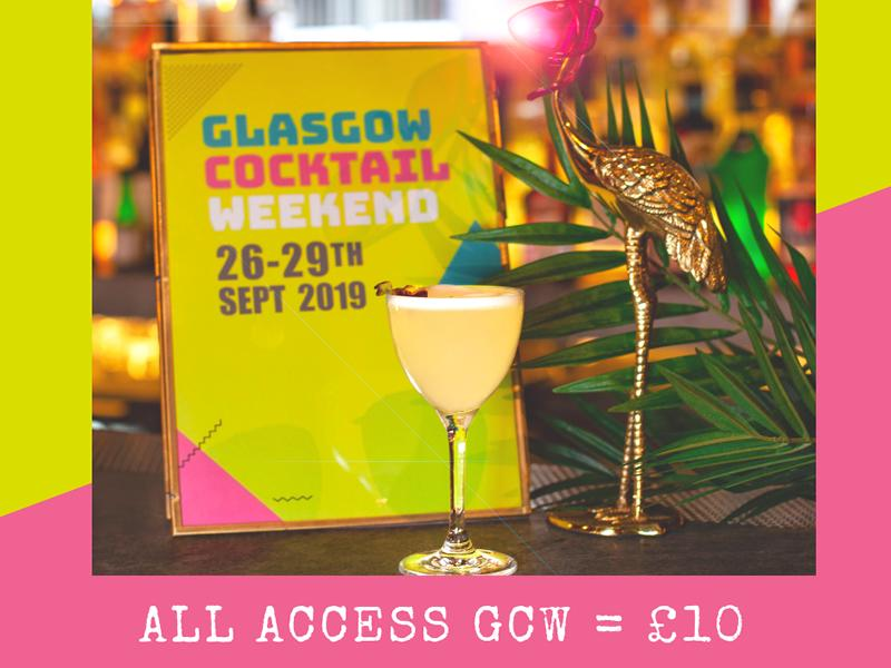Glasgow Cocktail Weekend tickets now on sale!