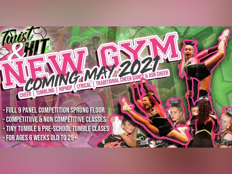 Twist & Hit Cheerleaders: NEW GYM OPEN DAY