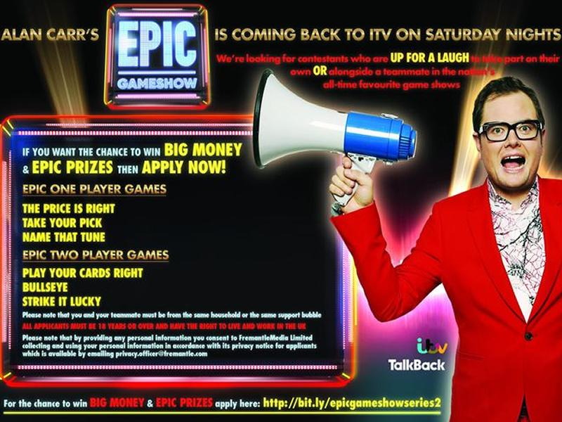 Epic Gameshow is returning and looking for contestants