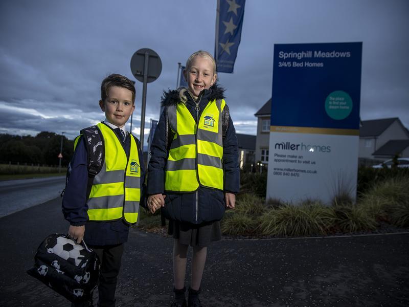 House builder donates high vis vests to school children across the region