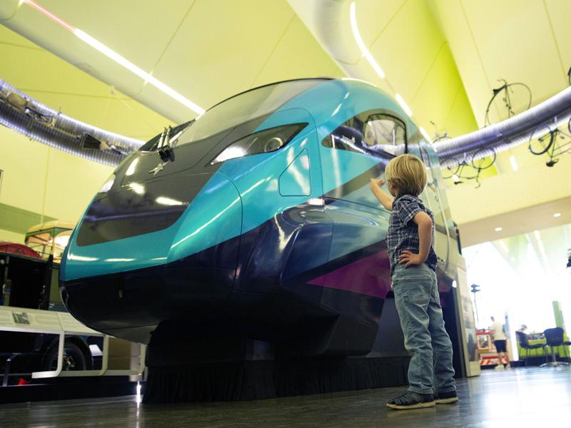 Life size replica cab from Train of the Future unveiled at Riverside Museum