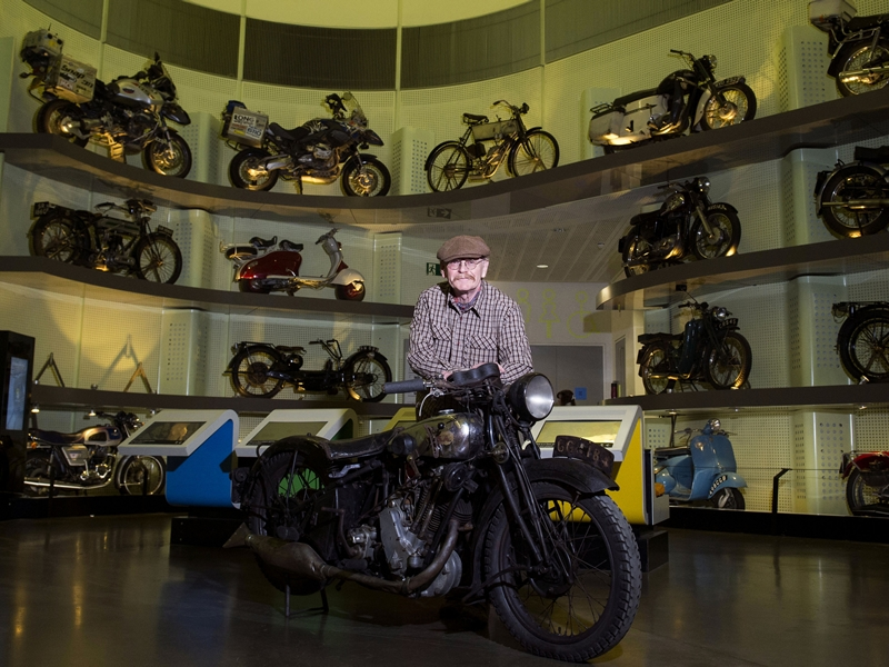 Rare vintage motorcycle makes its debut at Riverside Museum