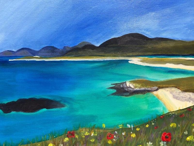 Paint n Sip Harris with Blaeberry River Art