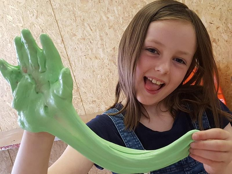 Print Clan Kids Summer Art Club - Making Slime