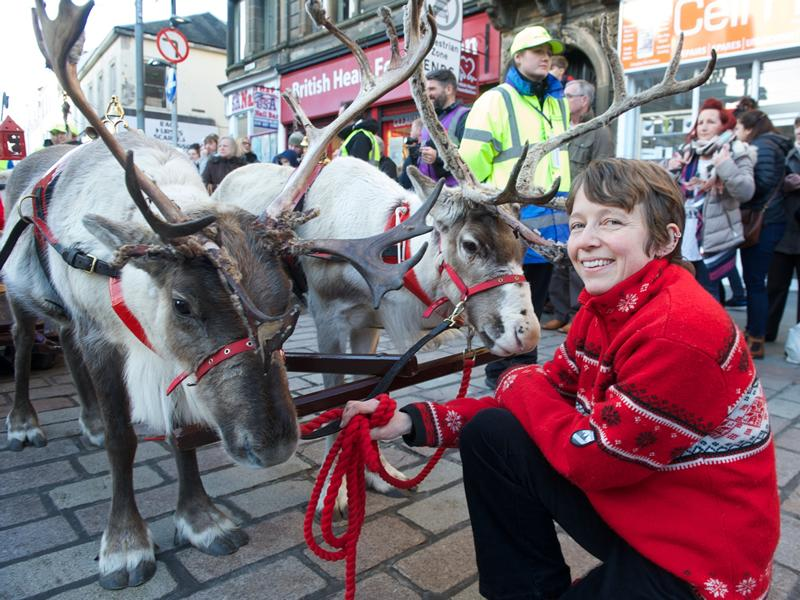 Paisley Christmas Lights Switch On