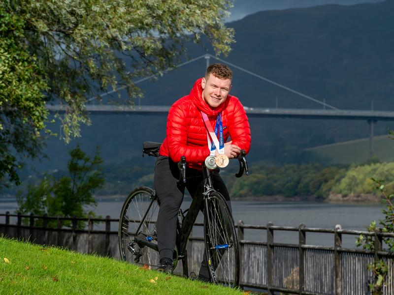 British track cyclist Jack Carlin hopes to inspire a peloton of cyclists to follow in his footsteps