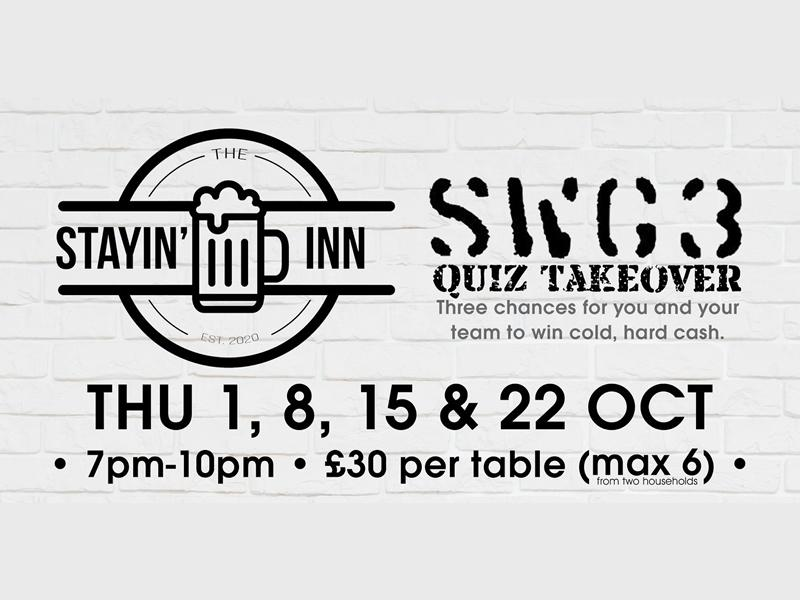 The Stayin' Inn SWG3 Quiz Takeover