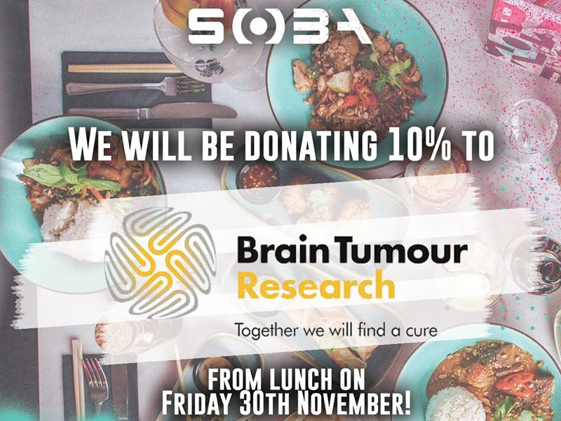 Do Lunch at Bar Soba for Brain Tumour Research