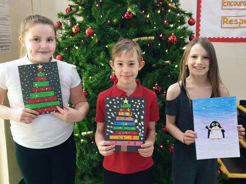 Arty pupils turn streets into a celebration of Christmas