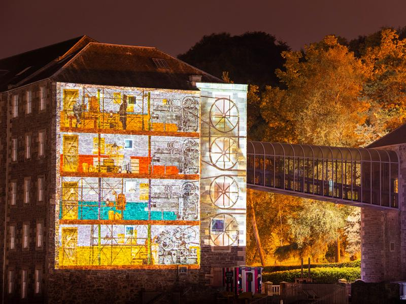 Travel through light, sound and time, in the immersive projection spectacular at New Lanark
