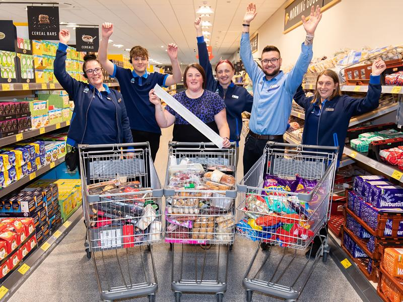 Shoppers in Glasgow can now apply for the much loved Supermarket Sweep from Aldi