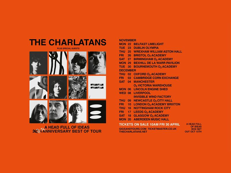 The Charlatans - 30th Anniversary Best of Tour