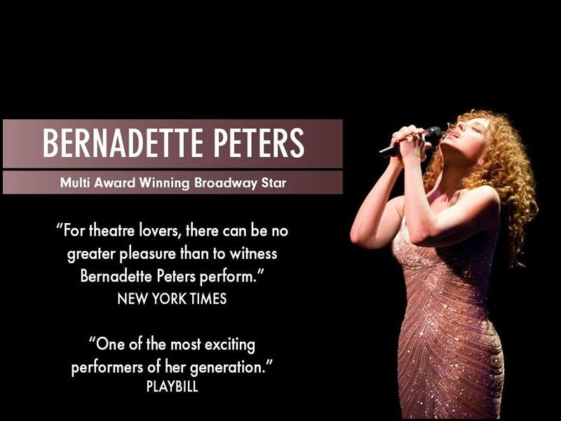Bernadette Peters - CANCELLED