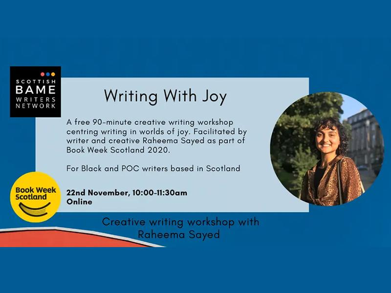 'Writing With Joy' with Raheema Sayed