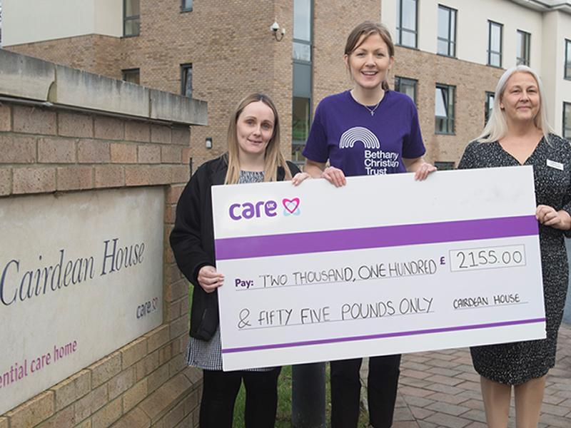 Edinburgh care home supports local homeless charity with donation
