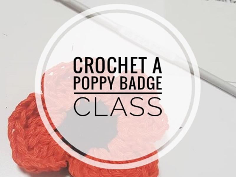 Crochet Poppy Badge Class