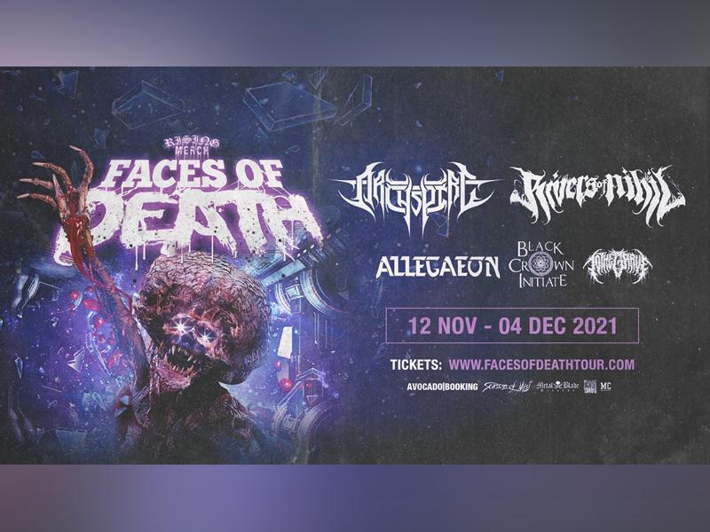 Rising Merch Faces of Death Tour