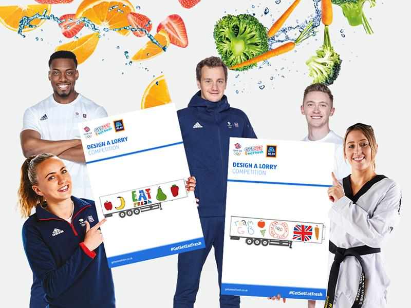 Aldi launches a lorry design competition for children across Scotland with Team GB