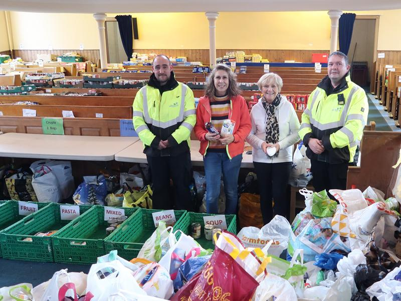 Kind hearted council staff donate to East Renfrewshire Foodbank