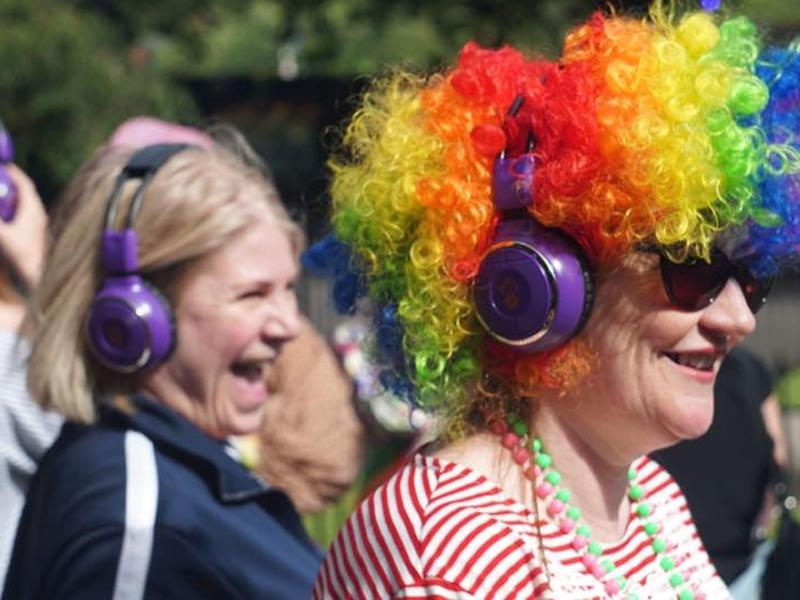 80s Silent Disco Party Parade with Ya Dancer Silent Discos