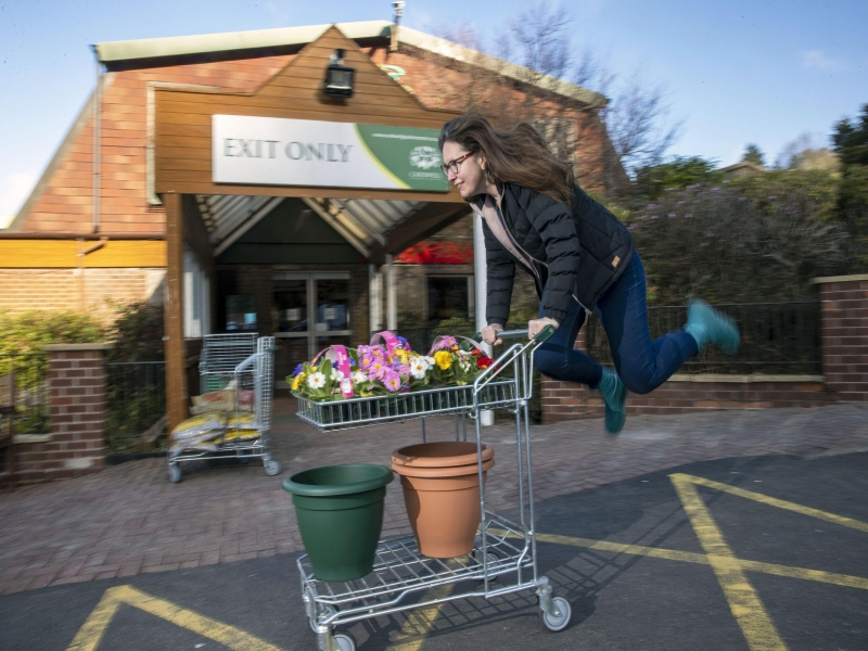 Jumping for joy as Cardwell Garden Centre reopens