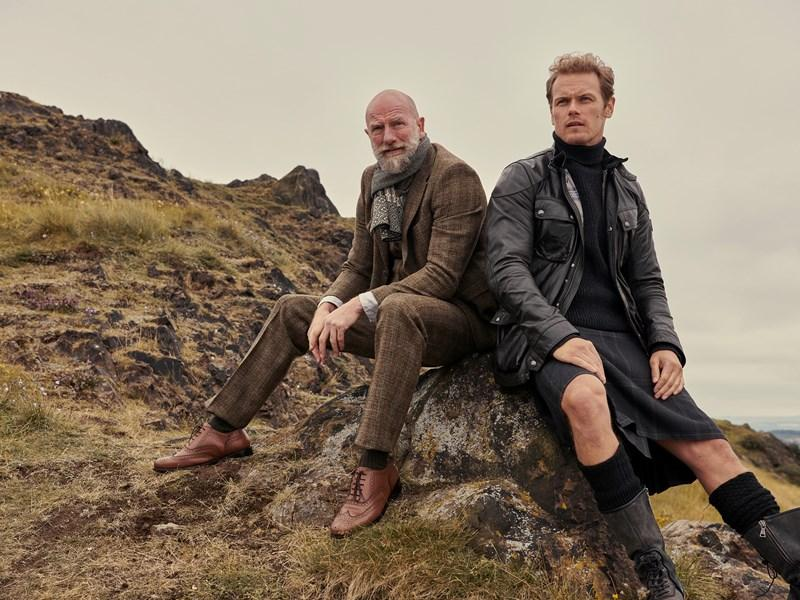 Sam Heughan and Graham McTavish chaired by Janice Forsyth