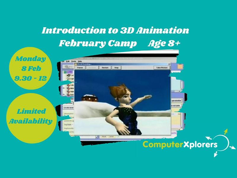 Introduction to 3D Animation - February Camp for Kids