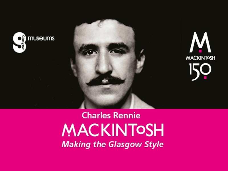 Year long programme of special events announced to celebrate 150th anniversary of Charles Rennie Mackintosh