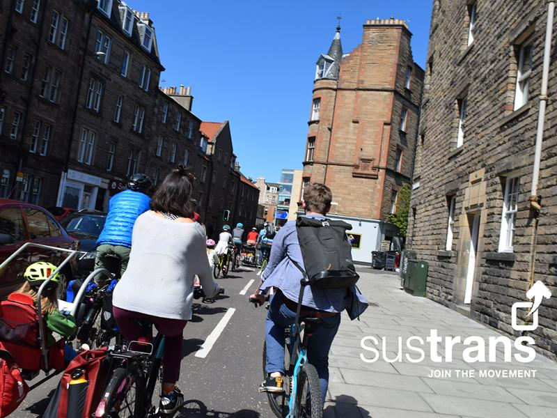 Sustrans Edinburgh Family Rides Open Doors Day Ride