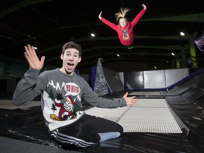 Christmas jumpers raise money at Flip Out
