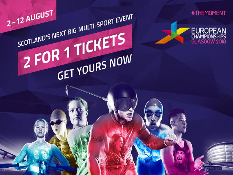 Exclusive European Championships Glasgow 2018 2 for 1 Ticket Offer!