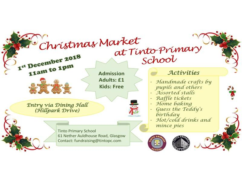 Tinto Primary School Christmas Market
