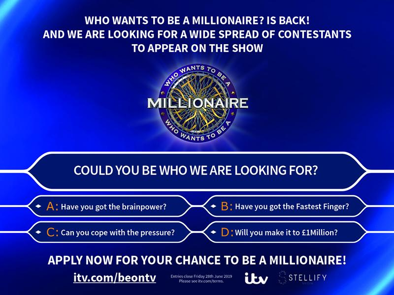 Who Wants To Be A Millionaire is back!