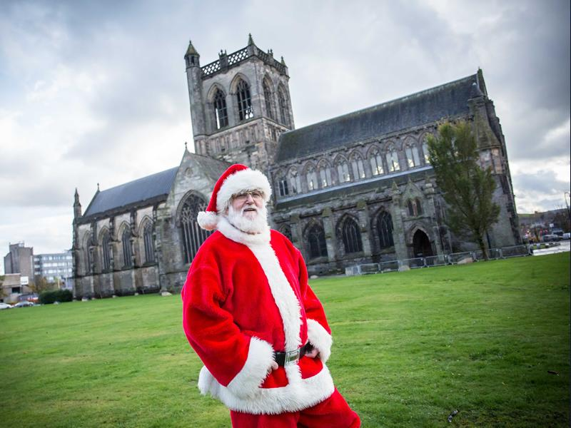 Santa Claus is coming to town for Paisley Christmas Lights Switch On