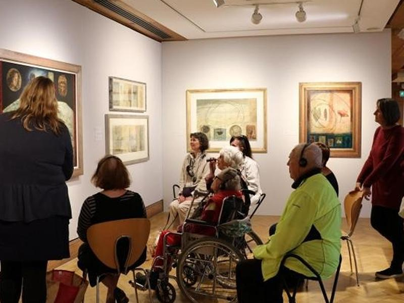 Descriptive tour for Visually Impaired Visitors of Charles H. Mackie: Colour and Light
